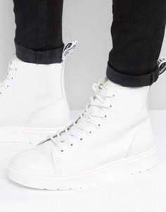 Ботинки с 8 парами люверсов Dr Martens Talib - Белый