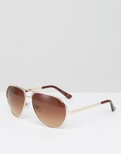 Солнцезащитные очки-авиаторы с коричневыми градуированными стеклами Jeepers Peepers - Коричневый