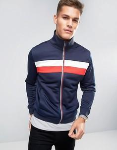 Темно-синяя спортивная куртка с полосками Hilfiger Denim - Темно-синий