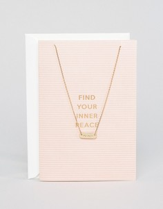Ожерелье с подарочной открыткой Find Your Inner Peace Orelia - Золотой