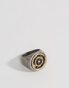 Кольцо-печатка Icon Brand - Серебряный