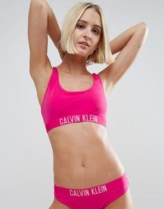 Кроп-топ со спиной-борцовкой и логотипом Calvin Klein - Фиолетовый