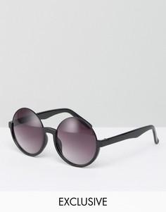 Круглые солнцезащитные очки Monki - Черный