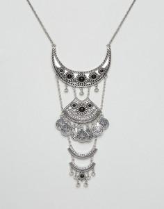 Броское ожерелье с подвесками DesignB London - Серебряный