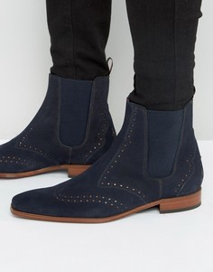 Кожаные ботинки челси Jeffery West Scarface - Темно-синий