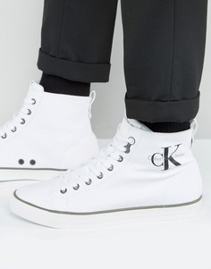 Высокие парусиновые кеды Calvin Klein Arthur - Белый