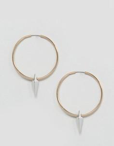 Серьги-кольца Orelia - Золотой