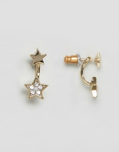 Серьги со звездами и камнями Orelia - Золотой