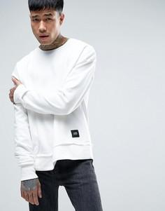 Белый свитшот-oversize с заниженным плечевым швом Sixth June - Белый