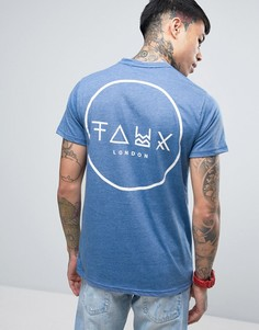Футболка с принтом на спине Friend or Faux Crescent - Синий