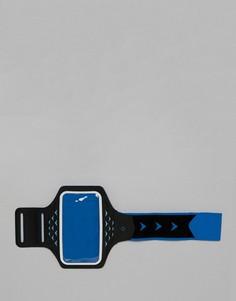 Синий браслет с держателем для телефона и светодиодными лампами Hama Active Sports XL - Синий