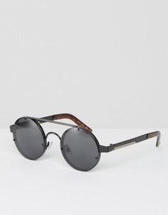 Круглые солнцезащитные очки черного цвета Spitfire - Черный