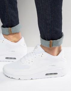 Белые кроссовки Nike Air Max 90 Ultra 2.0 875695-101 - Белый
