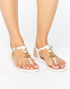 Белые сандалии с перемычкой между пальцев Vivienne Westwood For Melissa - Кремовый