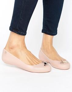 Матовые туфли на плоской подошве Vivienne Westwood For Melissa - Бежевый