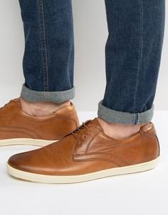 Кожаные туфли дерби Base London Concert - Рыжий