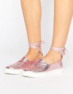 Туфли с завязками вокруг голени Clover Canyon - Розовый