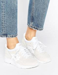 Бежевые кроссовки из фактурной кожи Asics Gel-Lyte V - Белый
