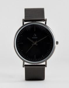 Часы с сетчатым черным ремешком ASOS - Черный