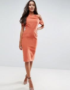 Платье-футляр из натурального волокна ASOS - Коричневый