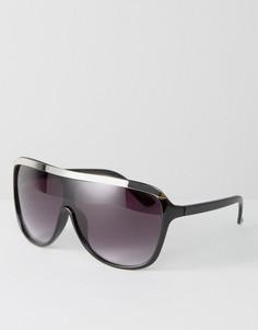 Солнцезащитные очки с плоским верхом Pieces Maggo - Черный