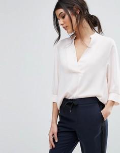 Розовая блузка с V-образным вырезом Selected Femme - Розовый