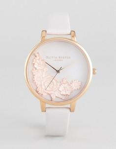 Часы с отделкой и кожаным ремешком Olivia Burton Begin To Blush - Золотой