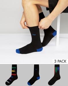 3 пары черных носков Pringle - Черный
