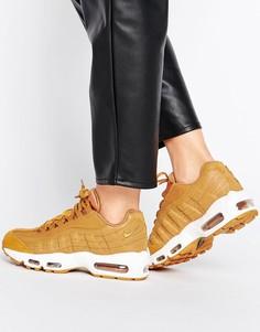 Светло-коричневые кроссовки Nike Air Max 95 Premium - Бежевый