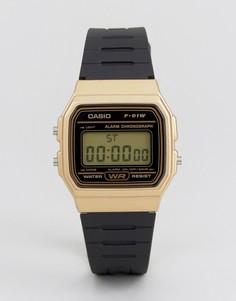 Цифровые часы с силиконовым ремешком Casio F91WM-9A - Черный