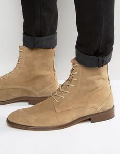 Замшевые ботинки на шнуровке Zign - Бежевый