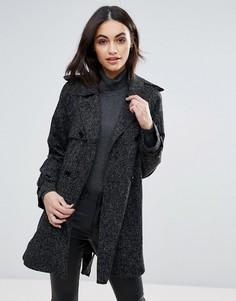 Пальто с поясом Jovonna - Черный