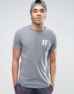 Серая обтягивающая футболка 11 Degrees - Серый