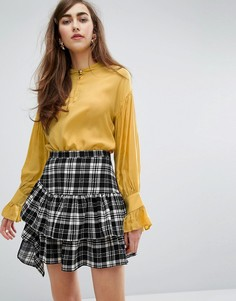 Блузка со складками на спине Sister Jane - Желтый