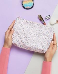 Косметичка с мозаичным принтом New Look - Розовый