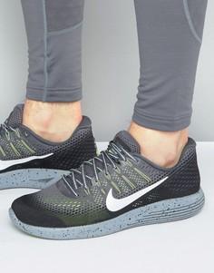 Серые кроссовки для бега Nike Lunar Glide 8 849568-007 - Серый