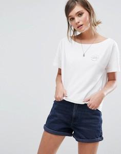 Укороченная oversize-футболка с логотипом Jack Wills - Белый
