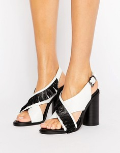 Сандалии на каблуке с ремешками крест-накрест Sol Sana Casey - Белый