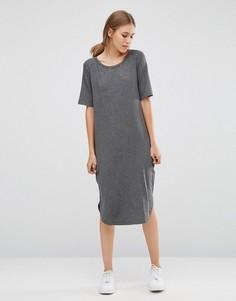 Длинное платье-футболка Just Female Gilli - Серый