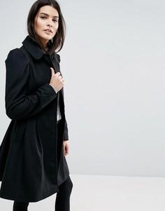Расклешенное пальто с эффектными рукавами ASOS - Черный