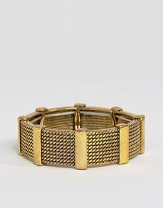 Массивный браслет DesignB - Золотой
