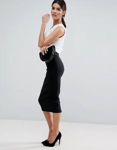 Длинная юбка-карандаш ASOS - Черный