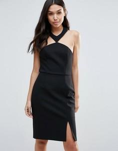 Платье с разрезом Talulah Brighter Than The Sun - Черный