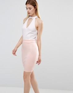 Платье с чокером AX Paris - Белый