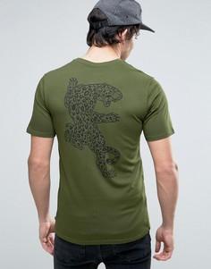 Зеленая футболка с ягуаром Nike SB 833640-331 - Зеленый