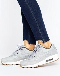 Серые кроссовки Nike Air Max 90 Premium - Серый