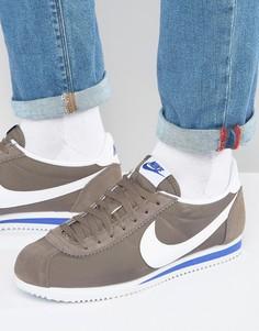 Светло-коричневые нейлоновые кроссовки Nike Cortez 807472-200 - Рыжий