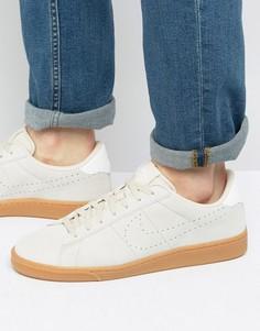 Бежевые замшевые кроссовки для тенниса Nike 829351-100 - Бежевый