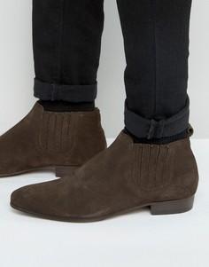Замшевые ботинки челси Hudson London Zelus - Коричневый