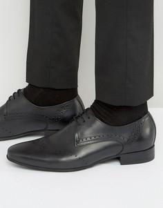 Кожаные броги Hudson London Erato - Черный